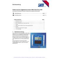 Sika 850 SolarTemp Marine Digital Thermometer - User Manual