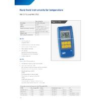 Sika MH3750 Handheld Thermometer - Datasheet