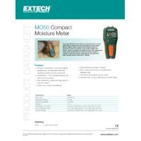 Extech MO50 Compact Moisture Meter - Datasheet