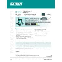Extech RHT3 EzSmart Hygro Thermometer - Datasheet