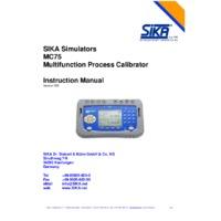 Sika MC 75 Multifunction Calibrator - User Manual