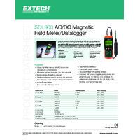Extech SDL900 Magnetic Field Meter - Datasheet