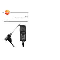 Testo 327-1 Flue Gas Analyser - User Manual