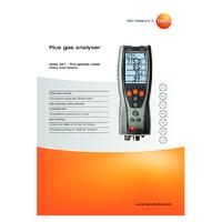 Testo 327-1 Flue Gas Analyser - Datasheet