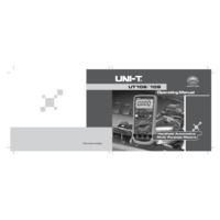 UNI-T UT108 Digital Multimeter - User Manual