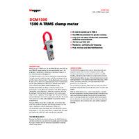 Megger DCM1500 True RMS Clamp Meter - Datasheet