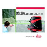 Leica Lino L2+ Cross-Line Laser Meter - User Manual
