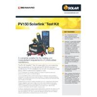 Seaward PV150 Solarlink Test Kit - Datasheet