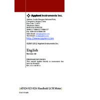Applent AT824, AT825 and AT826 - User Manual