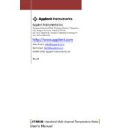 Applent AT4808 Temperature Meter - User Manual
