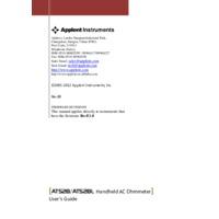 Applent AT528L Battery Tester - Datasheet