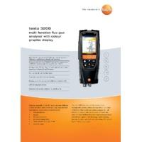 Testo 320B Flue Gas Analyser - Datasheet