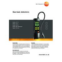 Testo 316-2 Gas Leak Detector - Datasheet
