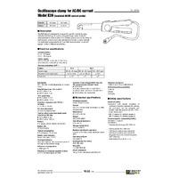 Chauvin Arnoux E3N Clamp - Datasheet