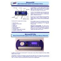 First Stop Safety MemoryPAT-Blu PAT Tester - Datasheet