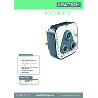 Kewtech KEWCHECK R2 Socket Adaptor - Datasheet