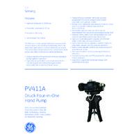 GE Druck PV411A Multifunction Hand Pump - Datasheet
