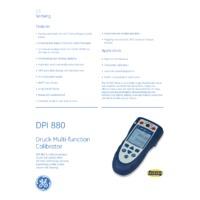 GE Druck DPI 880 Multifunction Calibrator - Datasheet