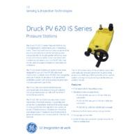 GE Druck PV622-IS Intrinsically Safe Pressure Generator - Datasheet