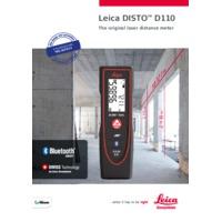 Leica Disto D110 Laser Distance Meter - Datasheet