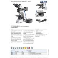 Kern OKN Metallurgical Binocular Microscope - Datasheet