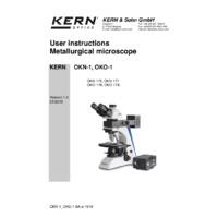 Kern OKN Metallurgical Binocular Microscope - User Manual