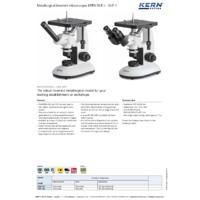 Kern OLE 161 Inverted Monocular Microscope - Datasheet