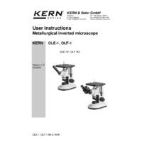 Kern OLF 162 Inverted Binocular Microscope - User Manual