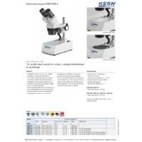 Kern OSE-4 Stereomicroscope - Datasheet