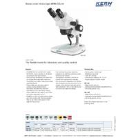 Kern OZL-44 Stereo Zoom Microscope - Datasheet