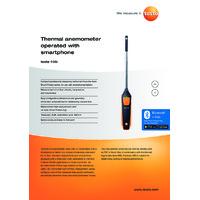 Testo 405i Bluetooth Thermal Hot Wire Anemometer Smart Probe - Datasheet