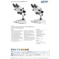 Kern OZL-45 Laboratory Stereo Zoom Microscope - Datasheet