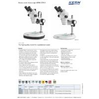 Kern OZM-5 Stereo Zoom Microscope - Datasheet