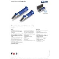 Kern ORA-S Analogue Salinity Refractometer - Datasheet