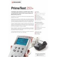 Seaward PrimeTest 250+ PAT Tester - Datasheet