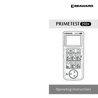 Seaward PrimeTest 250+ PAT Tester - User Manual