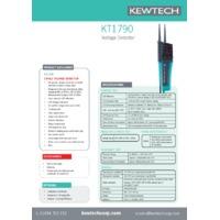 Kewtech KT1790 2-Pole Tester - Datasheet