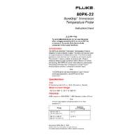 Fluke 80PK-22 SureGrip Immersion Temperature Probe - Instruction Manual