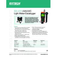 Extech SDL470 UVA and UAC Datalogging Light Meter - Datasheet