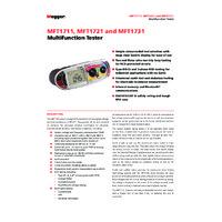 Megger MFT1721-BS Multifunction Tester - Datasheet