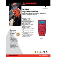 Amprobe 34XR-A Digital Multimeter - Datasheet