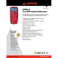 Amprobe 37XR-A True RMS Digital Multimeter - Datasheet
