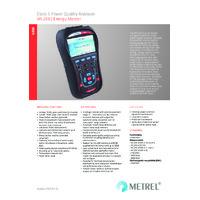 Metrel MI2883 Energy Master Power Analyser - Datasheet
