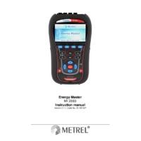 Metrel MI2883 Energy Master Power Analyser - User Manual