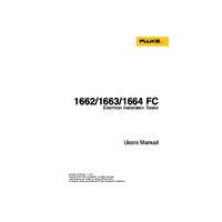 Fluke 1663 Multifunction Tester - User Manual