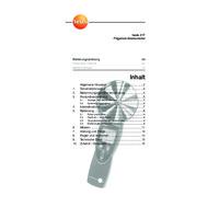 Testo 417 Anemometer - User Manual