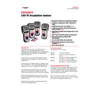 Megger MIT400-2 Insulation Tester - Datasheet