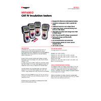 Megger MIT410-2 Insulation Tester - Datasheet