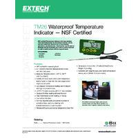 Extech TM26 Temperature Indicator - Datasheet