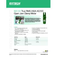 Extech MA160 Clamp Meter - Datasheet